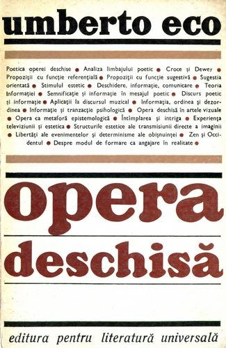 Umberto Eco - Opera deschisă