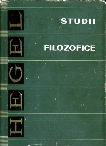 Georg W.F. Hegel - Studii filozofice